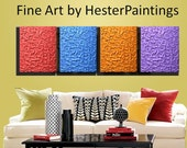abstract painting, palette knife,  Large 64x20, modern contemporary painting, heavy textured,  ABSTRACT by HesterPaintings   see note below