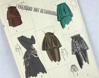 Vintage 40s Peplum Sewing Pattern, Vogue, 6167