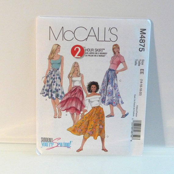 flared midi skirt sewing pattern mccalls 4876 black velvet