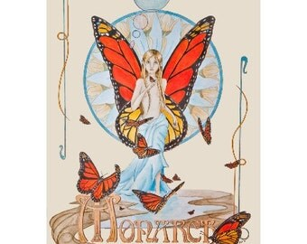 Flight of the Monarch limited edition print