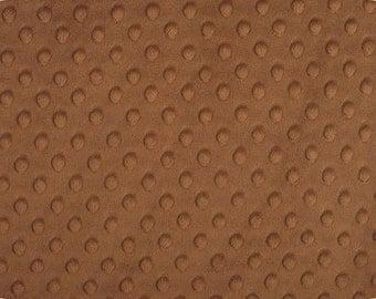 "EOB Clearance, 26"" Fabric, Brown Minky, Minky Dot Fabric, Mocha Minky/Cuddle Dot, Brown Fabric, 01443"