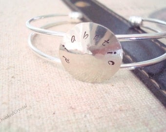 Medical ID Bracelet - Personalized Jewelry - Silver - Silver Cuff - Hand Stamped