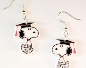 Snoopy Graduation  Earrings Peanuts Gang Earrings