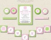 PRINTABLE PARTY COLLECTION -- Preppy St. Patrick's Day Party Collection -- Mirabelle Creations