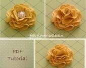Felt Flower Tutorial Fabric Flower Tutorial  Wool Felt Flower Tutorial Flower PDF-ebook How to PDF-epattern-Flower Pattern-ebook 010