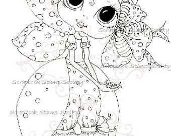 INSTANT DOWNLOAD Digital Digi Stamps Big Eye Big Head Dolls Digi  Fiddle Dee Bee Besties By Sherri Baldy