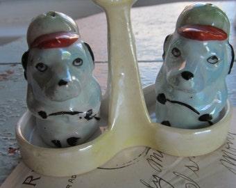 Sale Vintage Salt and Pepper Lusterware Dogs
