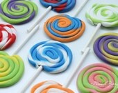 Lollipop Candy Fondant Cupcake Toppers