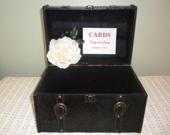 Vintage Inspired Trunk Wedding Card Holder