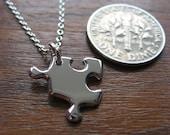DISCOUNT PRICE! Miniature Puzzle Silver Necklace Pendant