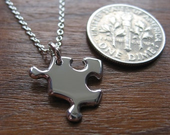 Miniature Puzzle Silver Necklace Pendant