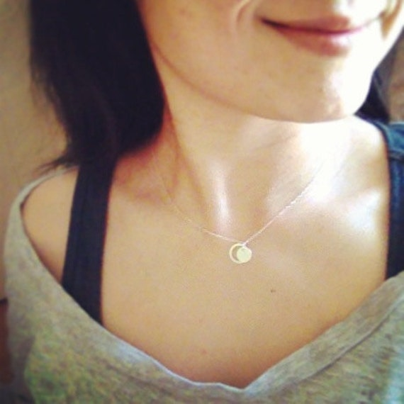Eternity Circle Initial Necklace - All Sterling Silver, Everyday Jewelry