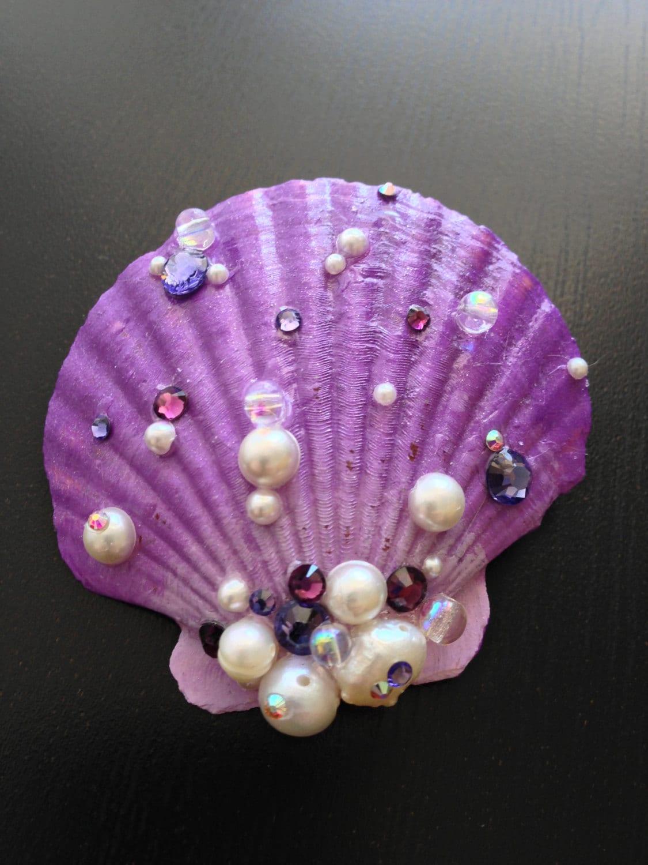 Mermaid seashell hair clip for Seashells for hair