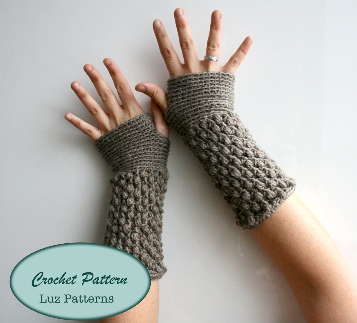 Crochet patterns girl and women fingerless glove pattern wrist this is a digital file bankloansurffo Choice Image