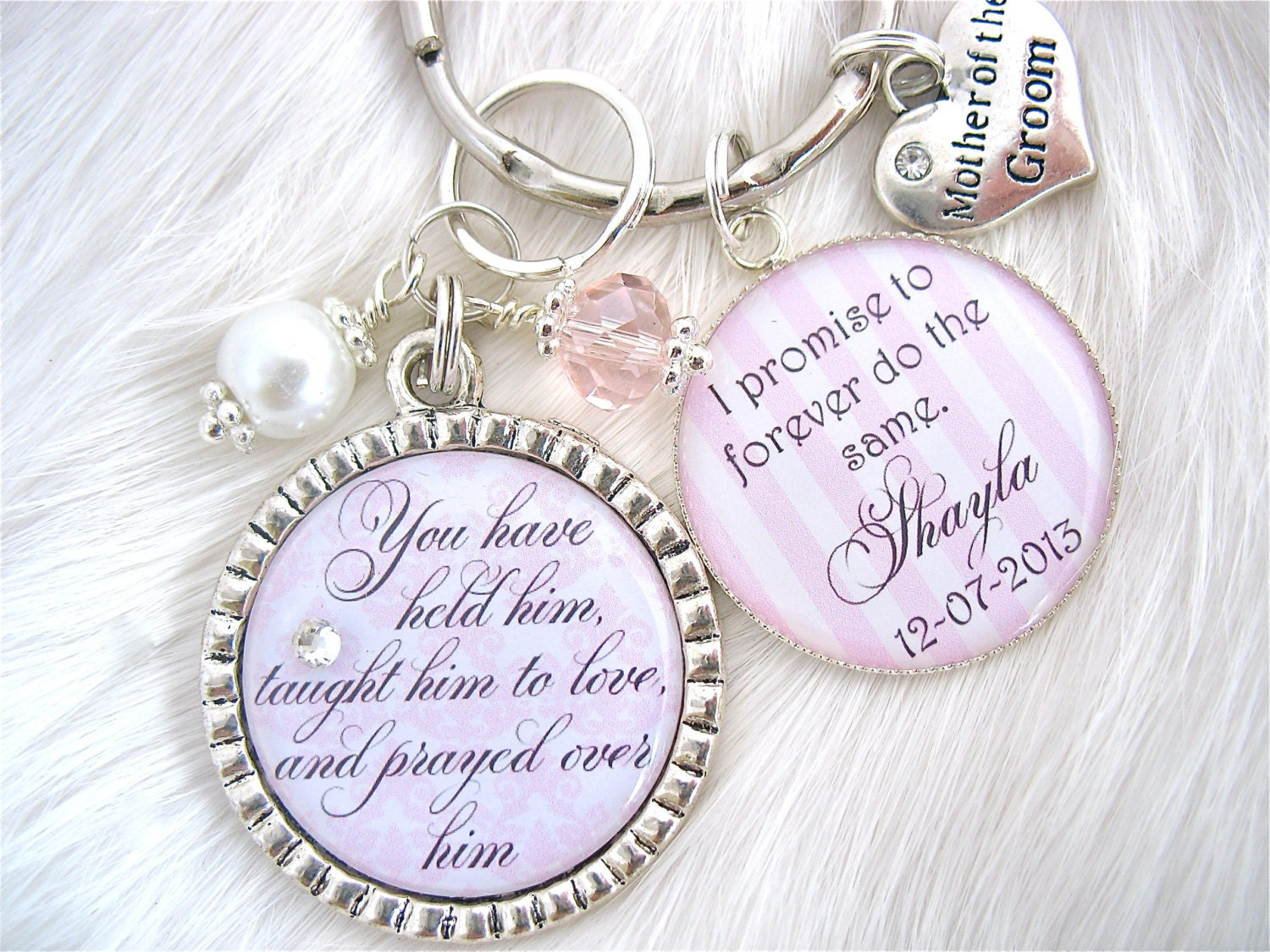 MOTHER of the GROOM Gift Mother of the Bride I promise to