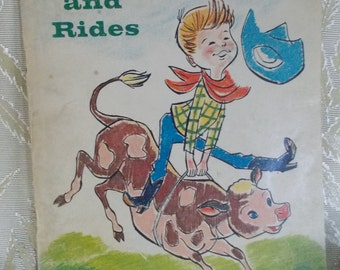 """Vintage Book """"Whitey Ropes and Rides"""" by Glen Rounds"""