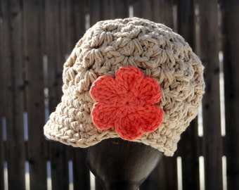 Crochet Baby Hat, kids hat, crochet newsboy hat, hat for girls, newborn hat