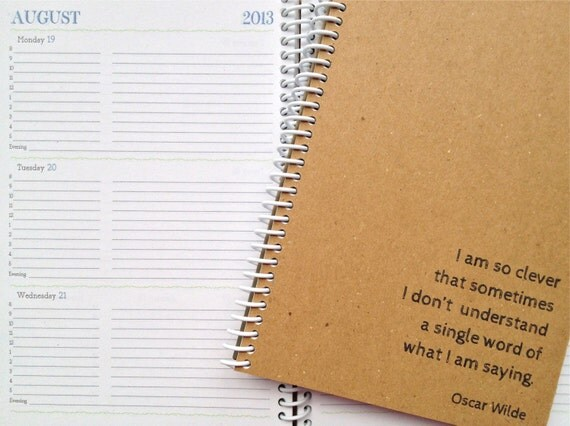 2013 CUSTOM QUOTE Weekly & Monthly Planner