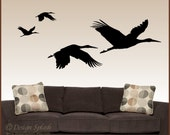 Birds in Flight Storks Vinyl Wall Decals - DesignSPLASH