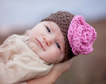 baby girls hat, baby hat, crochet baby hat, kids hat, crochet kids hat, newborn girl hat, grey baby hat
