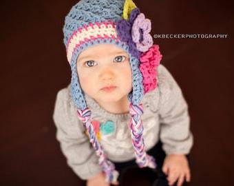 baby girl hat, baby hat, girls hat, little girls hat, crochet girl hat, kids hat