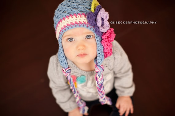 baby girl hat, baby hat, girls hat, little girls hat, crochet girl hat, kids hat