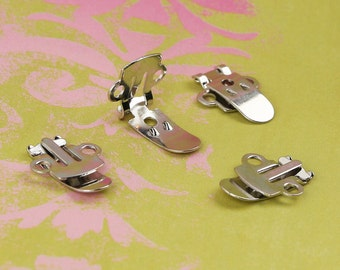 10 Shoe Clips Blanks (5 pairs) for Fabric Covered Button Shoe Clip Accents