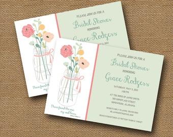 Bridal Shower Invitation | Mason Jar Invitation | Christian Wedding Shower | Rustic Bridal Invitation | Scripture Wedding | DIY PRINYABLE