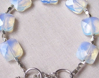 Opalite and Sterling Silver Bracelet