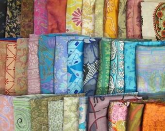 Surprise Bag of 15 Silk Fat Quarters