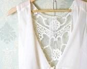 Valentine Day Sale Romantic fall embroidery back drape collar sleeveless chiffon blouse jacket cape ivory cream layering night gown - miadressshop