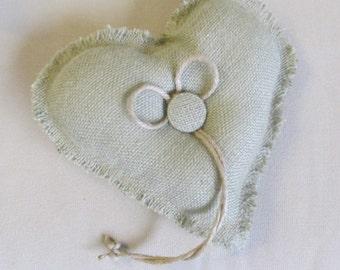 SAGE Simple Heart ring bearer pillow