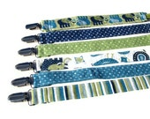 Baby Boy Pacifier Clip - Pick your own Fabric
