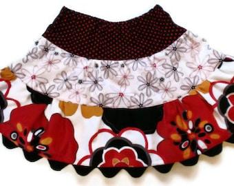 Girl's Twirl Skirt, Toddler Skirt, Little Girls Skirts, Fall Skirt, Floral Skirt, Toddler Fall Skirt, Girls Fall Skirt
