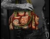 The Lyndale, Nesting Doll pattern shoulder bag