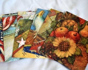 Lang calendar upcycled envelopes 6 Americana