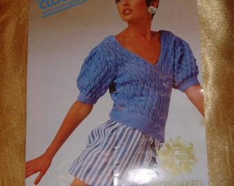 vintage knitting pattern sirdar dk 6787 cloud 9 sunseeker lacy