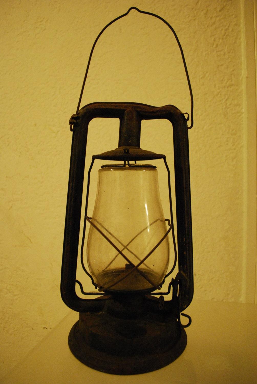Antique Kerosene Lantern Oil Lamp Paull S Glass Globe