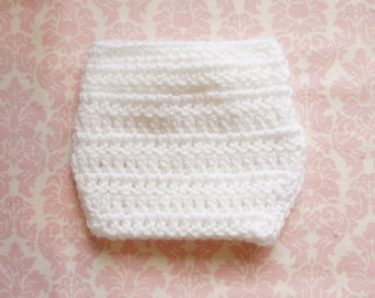 White diaper cover/ newborn diaper cover/ diaper cover