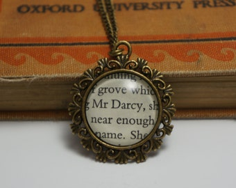 Pride and Prejudice' Mr Darcy' bronze necklace