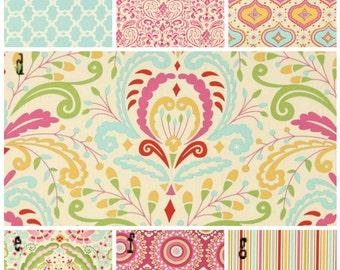 3 Piece Bumperless Crib Bedding, fabrics are your choice, Kumari by Free Spirit  Lolas Lovies handmade baby bedding