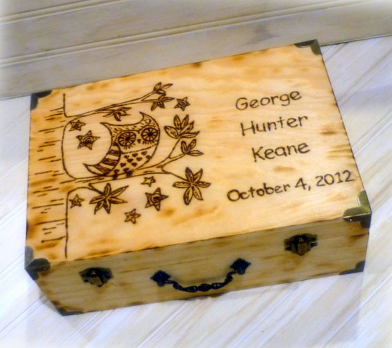 Personalized Memory Keepsake Box Baby Childs Time Capsule