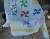 Baby Blue Pinwheel Quilt