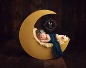 Moon Photo Prop, Newborn Photography Prop Moon, Moon  Prop, Wood Moon Prop