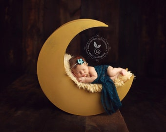 Moon Photo Prop, Newborn Photography Prop Moon, Moon  Prop, Wood Moon Prop
