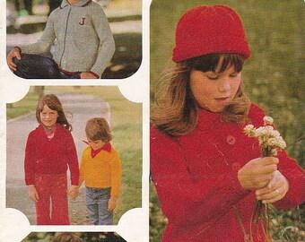 On Sale - Patons Totem Children's Knitting Pattern No 444  - Vintage 1970's