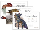 2013 Tea & Creatures Wall Calendar