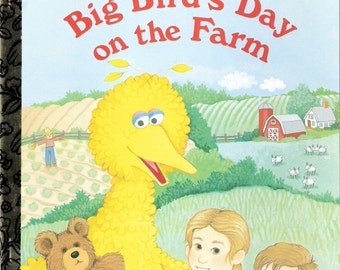 Big Birds Day on the Farm Vintage Little Golden Book Illustrated by Maggie Swanson 1993