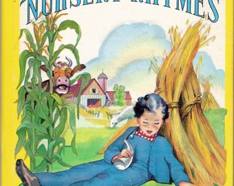 Nursery Rhymes Vintage Whitman Tell A Tale Book Illustrated by Louise Altson