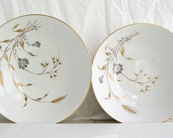 Vintage Serving Bowls, Heinrich H&C Golden Harvest, Bavarian China, Vintage Kitchen, (2) Serving Bowls